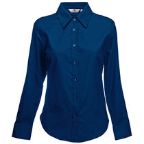 Blusa de mujer oxford la fruit of the loom 135 personalizada azul marino