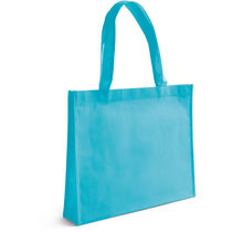 Bolsa de compra en non woven personalizada azul claro