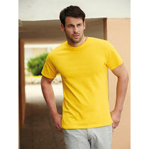 Camiseta heavy fruit of the loom 195 personalizada amarillo