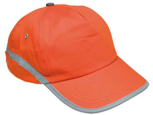 Gorra de 5 paneles con banda reflectante personalizada.   75785ab17ae