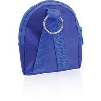 Llavero monedero mochila apto cinturon personalizado azul