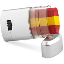Pinturas de diferentes banderas en caja personalizado rojo