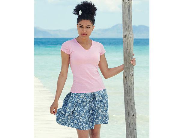 Camiseta de mujer valueweight v fruit of the loom 165 personalizada