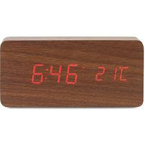Reloj de sobremesa personalizado marron madera