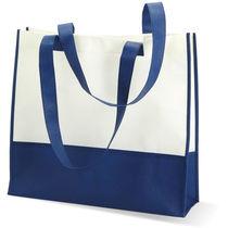 Bolsa de compra o playa mat no tejido personalizada azul
