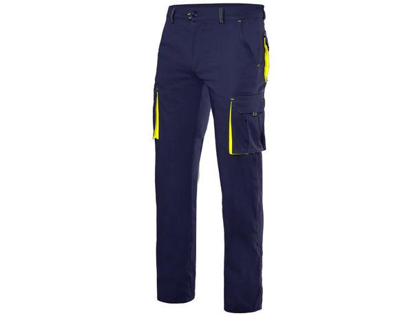 Pantalon stretch bicolor multibolsillos velilla personalizado