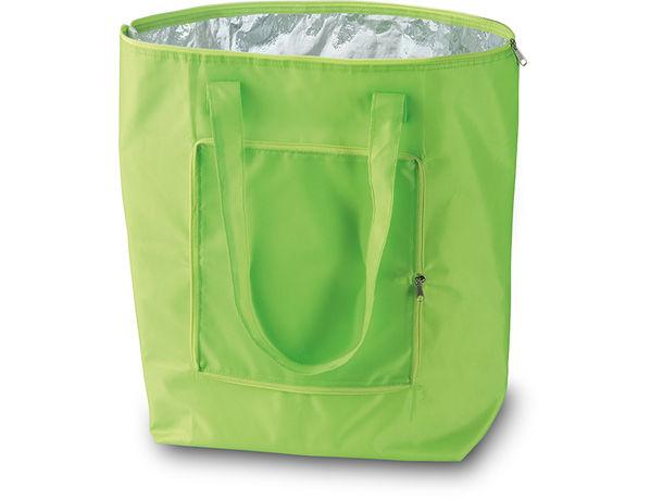 Bolsa de compra termica y plegable plicool verde lima