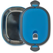 Fiambrera con tapa hermetica personalizada azul turquesa