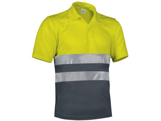 Polo reflectante transpirable build 170 barato amarillo fluor gris carbon