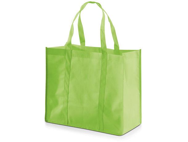 Bolsa en non woven grande y ancha barata verde claro