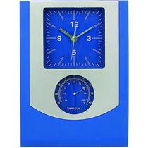 Reloj de pared con termometro personalizado azul