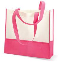 Bolsa de compra o playa mat no tejido personalizada fucsia