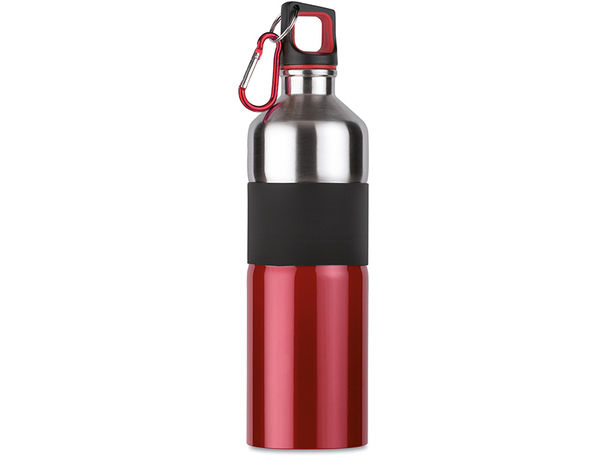 Botella de acero con agarre goma tenere rojo