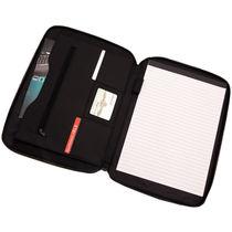 Portafolios microfibra con cremallera y bloc personalizado