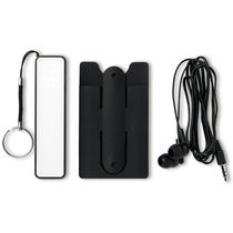 Set powerbank personalizado negro