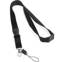 Lanyard con cierre de seguridad superior personalizado negro