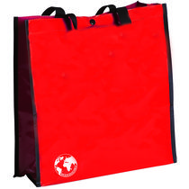 Bolsa reciclable biodegradable personalizada rojo
