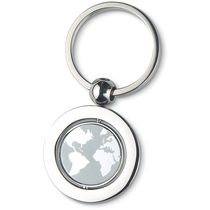 Llavero mapa mundo personalizado plata