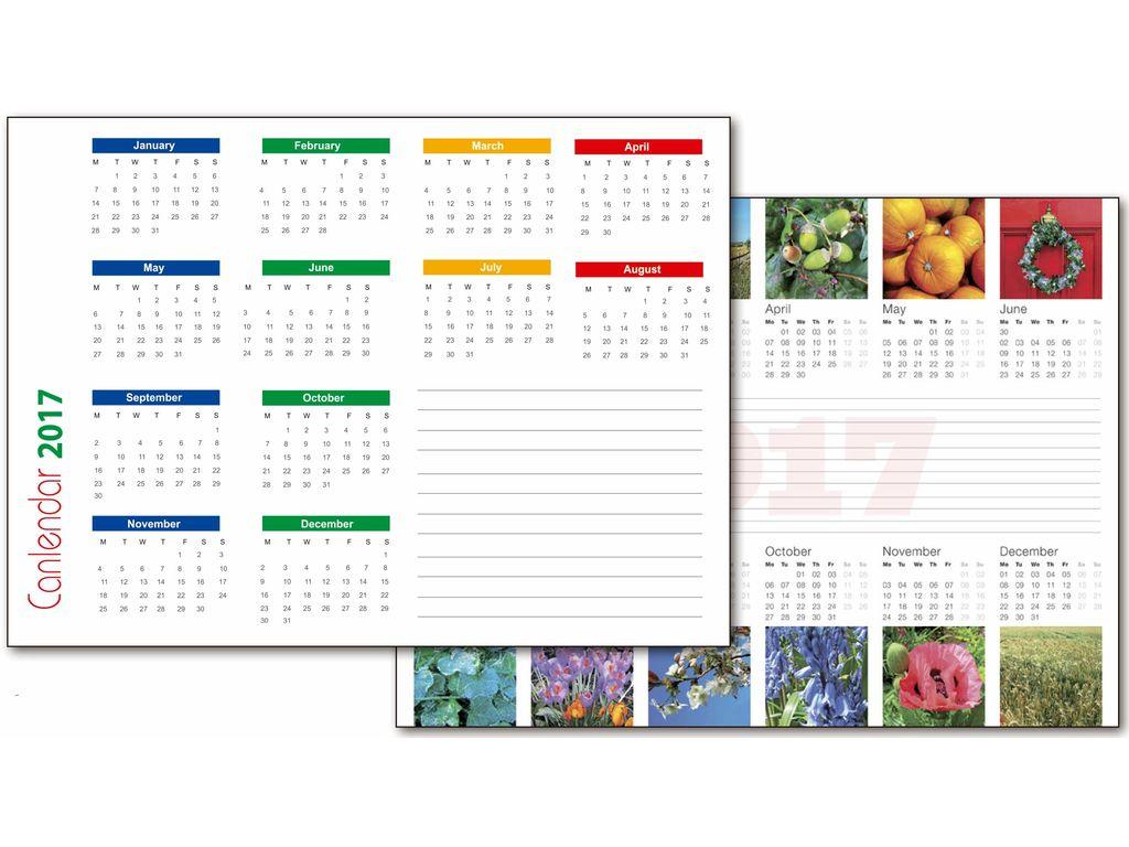 Calendario vade de Mesa para personalizar