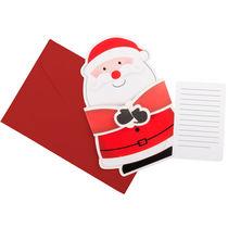 Carta de navidad en forma de papa noel personalizada