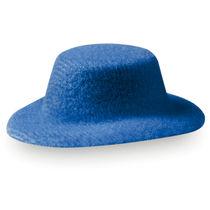 Pasador antelina forma de sombrero personalizado azul