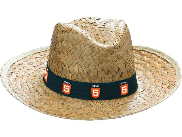 Sombrero de paja envejecido personalizado