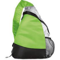 Mochila triangular ligera con 1 asa grabada verde lima