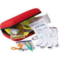 Kit de seguridad para coche en funda eva personalizado rojo