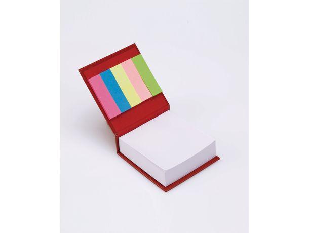 Taco 200 notas con notas adhesivas personalizado rojo