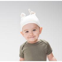 Gorro de bebe algodon organic hat babybugz personalizado natural organico