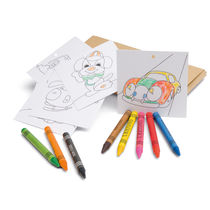 Ceras de colores y dibujos para colorear personalizado