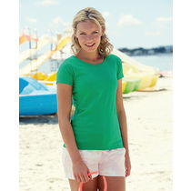Camiseta de mujer valueweight t fruit of the loom 165 barata verde pradera