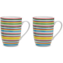 Set 2 tazas ceramica 280 ml barato multicolor