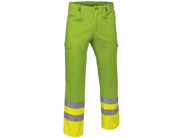 Pantalon reflectante poliester y algodon train economico amarillo fluor verde primavera