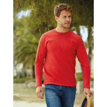 Camiseta value weight ls fruit of the loom 165 economica rojo