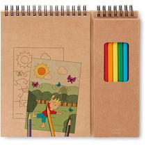 Set de lapices y cuaderno personalizado
