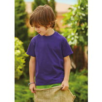 Camiseta de nino value weight fruit of the loom 165 personalizada purpura