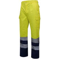 Pantalon bicolor alta visibilidad velilla personalizado
