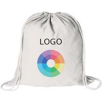Mochila saco de color en 100 algodon de 100 g m2 personalizado