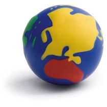 Pelota antiestres globo terraqueo multicolor personalizada