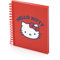 Libreta bintex hello kitty personalizada rojo