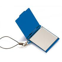 Llavero espejo de aluminio personalizado azul
