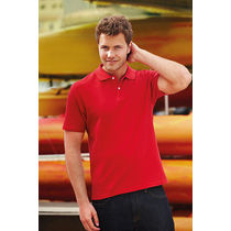 Polo pique screen stars fruit of the loom 180 con logo rojo
