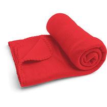 Manta polar de 145 x 95 cm y 180 gr personalizada rojo