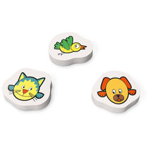 Set de 3 gomas de borrar decoradas personalizado multicolor