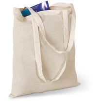 Bolsa de feria de algodon natural beige personalizada beige