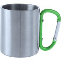Taza de acero inox con mosqueton personalizada