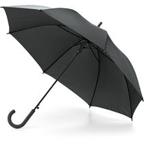 Paraguas automatico mango de goma personalizado negro