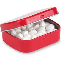 Bote con caramelos grabado rojo