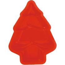 Molde de silicona arbol de navidad personalizado rojo